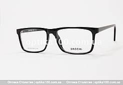 Чорна чоловіча прямокутна оправа для окулярів