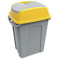 Бак для мусора Planet Hippo 25 л серо-желтый