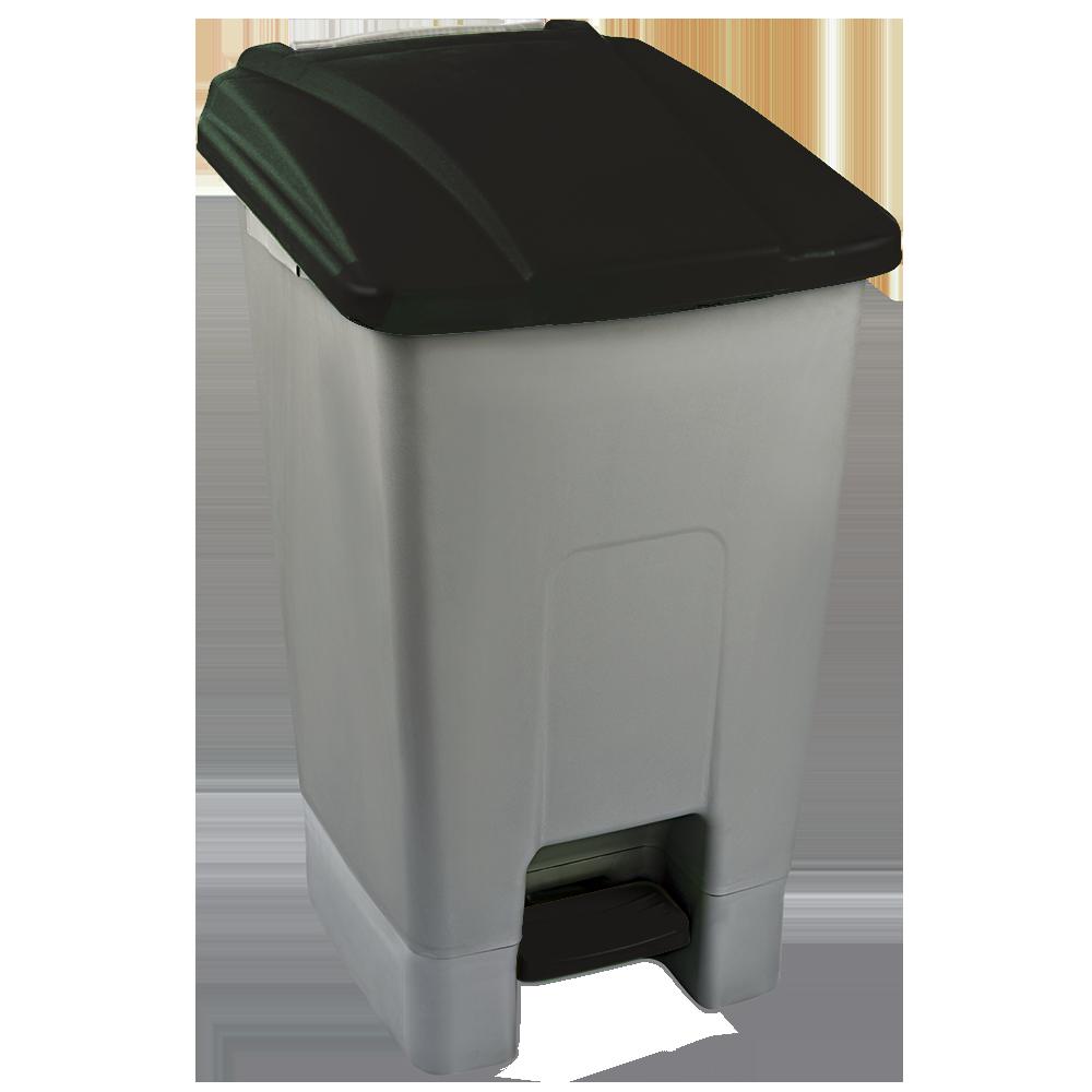 Бак для мусора с педалью Planet 70 л серо-черный