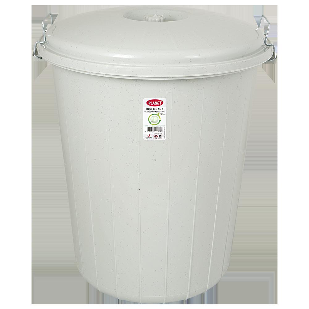 Бак для мусора Planet №3 50 л серый