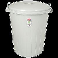 Бак для мусора Planet №5 90 л серый