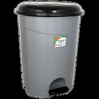 Ведро для мусора с педалью Planet №3 50 л серый