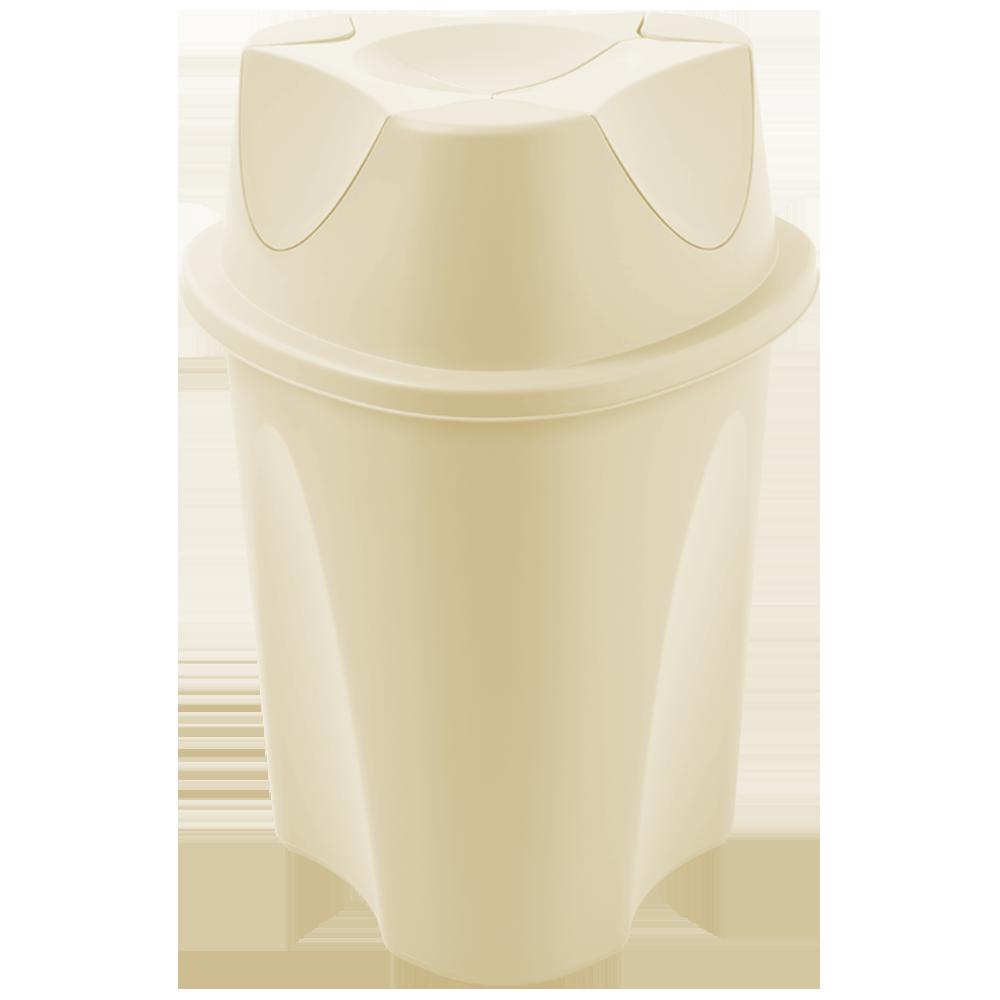 Ведро для мусора Planet Twist 15 л крем