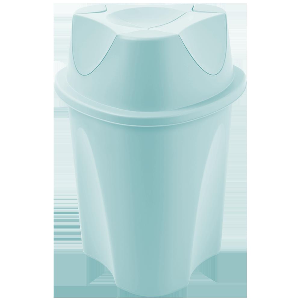 Ведро для мусора Planet Twist 15 л серо-голубое
