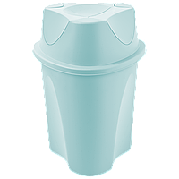 Ведро для мусора Planet Twist 15 л серо-голубое, фото 1