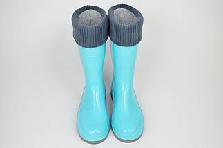 Гумові чоботи Alisa Line 401 Блакитні, фото 2