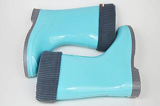 Гумові чоботи Alisa Line 401 Блакитні, фото 3