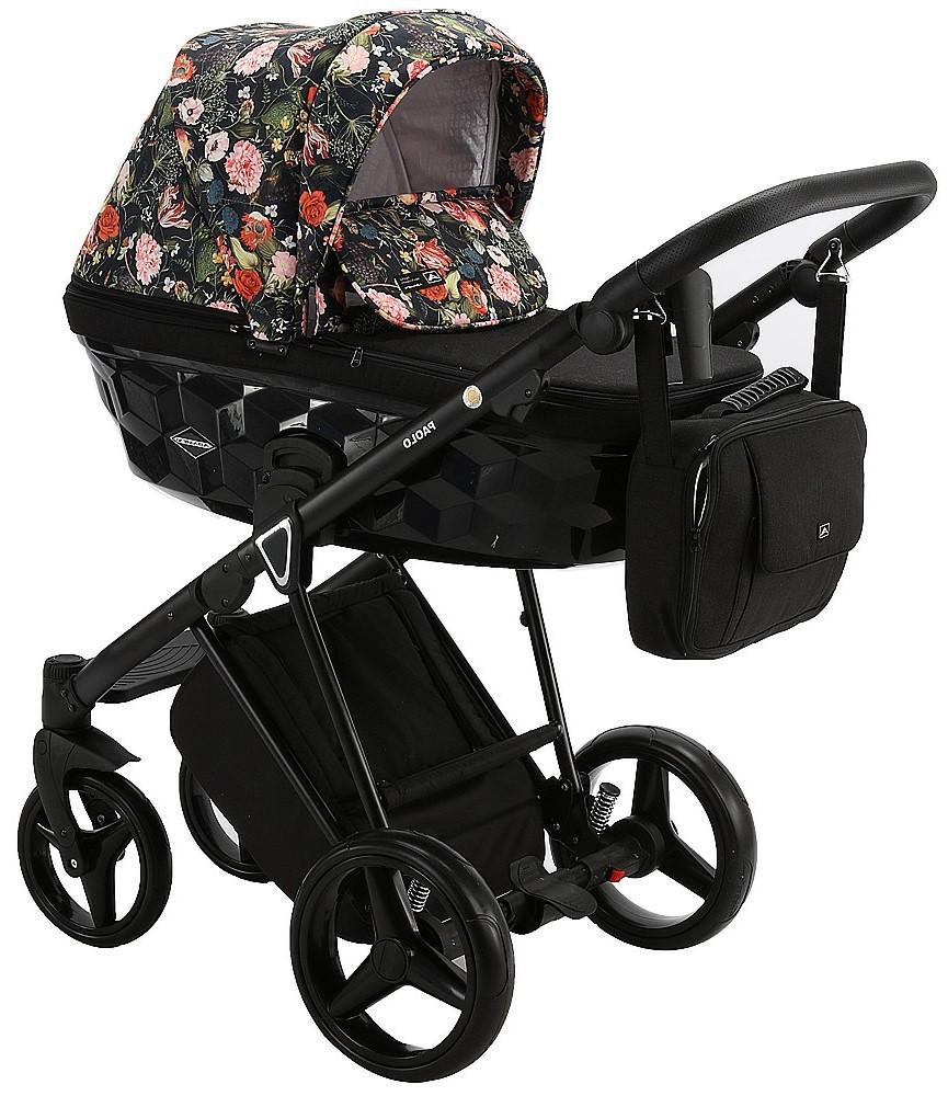 Детская универсальная коляска 2 в 1 Adamex Paolo FLOWER S-1
