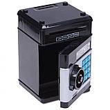 Копилка детский сейф банкомат с кодовым замком и купюроприемником для бумажных денег и монет, фото 2