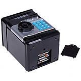 Копилка детский сейф банкомат с кодовым замком и купюроприемником для бумажных денег и монет, фото 3