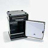 Копилка детский сейф банкомат с кодовым замком и купюроприемником для бумажных денег и монет, фото 4
