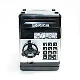 Копилка детский сейф банкомат с кодовым замком и купюроприемником для бумажных денег и монет, фото 5
