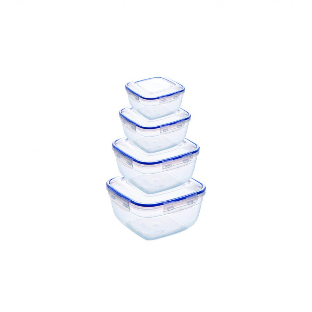 Набір герметичних контейнерів 4 шт.(275* 500 * 900 * 1500 мл.) квадратних 94065