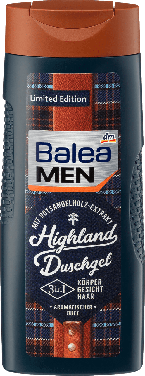 Гель для душа Balea Men 3 in 1 Highland, 300 мл.