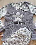 Женская теплая пижама Махра + Флис, фото 4