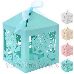 Бонбоньєрка (коробочка для цукерок) Stenson 6*6*6 см, 50 шт в упаковці