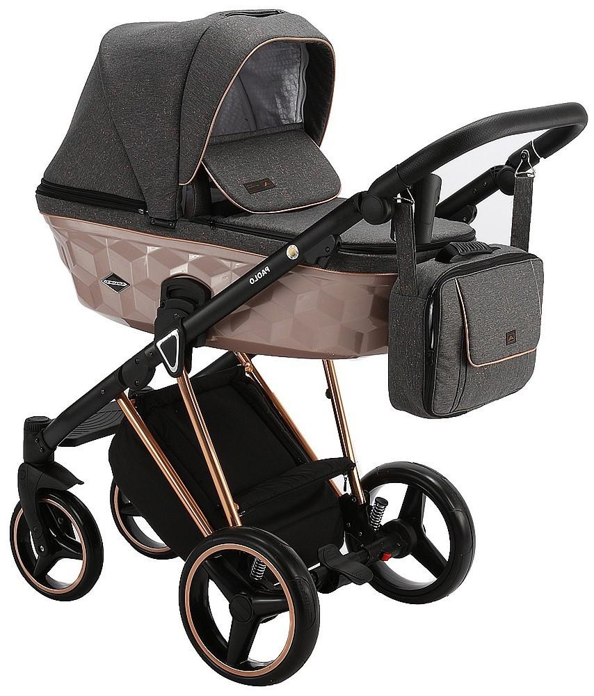 Детская универсальная коляска 2 в 1 Adamex Paolo Star-4