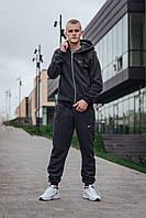 Теплый мужской спортивный костюм ФЛИС ЗИМА (темно-серый)