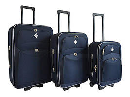 Набір валіз на колесах Bonro Style Синій 3 штуки