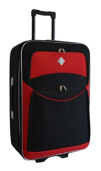 Дорожный чемодан на колесах Bonro Style Черно-красный Большой