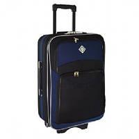 Дорожный чемодан на колесах Bonro Style Черно-темно-синий Большой