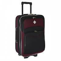Дорожный чемодан на колесах Bonro Style Черно-вишневый Большой