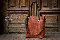 Женская деловая кожаная сумка / Сумка - повседневная