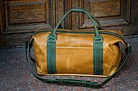 Большая дорожная кожаная сумка для активного путешественника