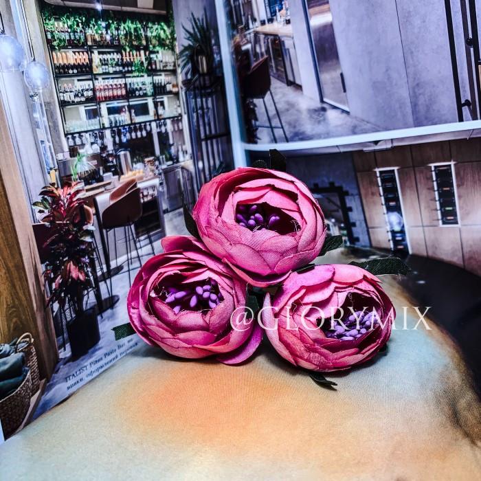 """Шпильки для волос с цветками пион """"Pink Peonies"""", 3шт"""