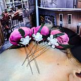 """Шпильки для волос с цветками пион """"Pink Peonies"""", 3шт, фото 6"""