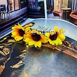 """Шпильки для волосся з квітками пионий, соняшники """"Flower Boom"""", 5 шт, фото 2"""