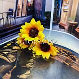 """Шпильки для волосся з квітками пионий, соняшники """"Flower Boom"""", 5 шт, фото 3"""