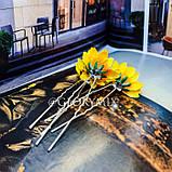 """Шпильки для волосся з квітками пионий, соняшники """"Flower Boom"""", 5 шт, фото 5"""