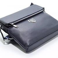 Мужская синяя сумка А4 Philipp Plein 0881-7 через плечо для документов и бумаг, фото 1