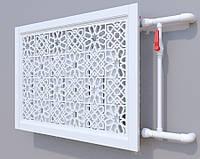 Декоративная решетка на батарею SMARTWOOD | Экран для радиатора | Накладка на батарею Короб, Покраска RAL,