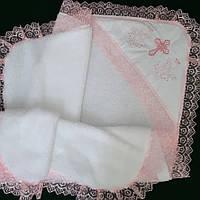 Крыжма Молитва махра велсофт органза розовая вышивка (КВ-19а) Бедрик