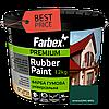 Краска резиновая Farbex зеленая матовая RAL 6005, 12 кг Фарба гумова Фарбекс