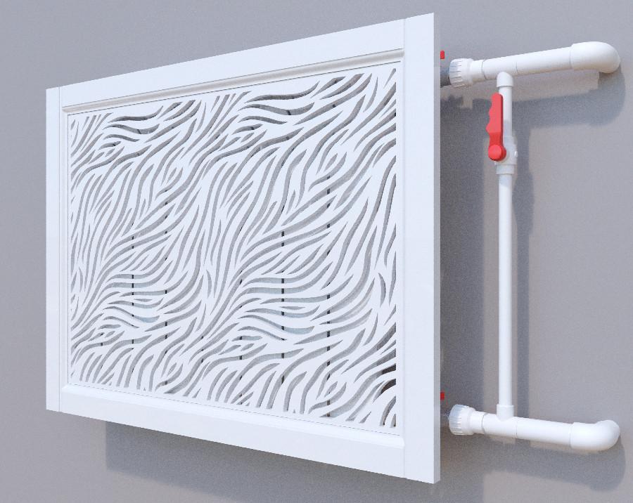 Декоративная решетка на батарею SMARTWOOD   Экран для радиатора   Накладка на батарею Короб, Без отделки,