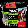 Краска резиновая Farbex красная матовая RAL 3020, 12 кг Фарба гумова Фарбекс