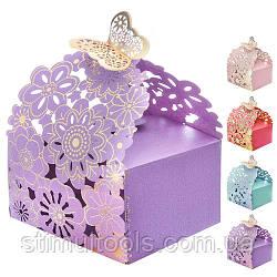 Бонбоньерка (коробочка для конфет) Stenson 7*7 см, 50 шт в упаковке