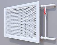 Декоративная решетка на батарею SMARTWOOD   Экран для радиатора   Накладка на батарею 600*600 Решетка с