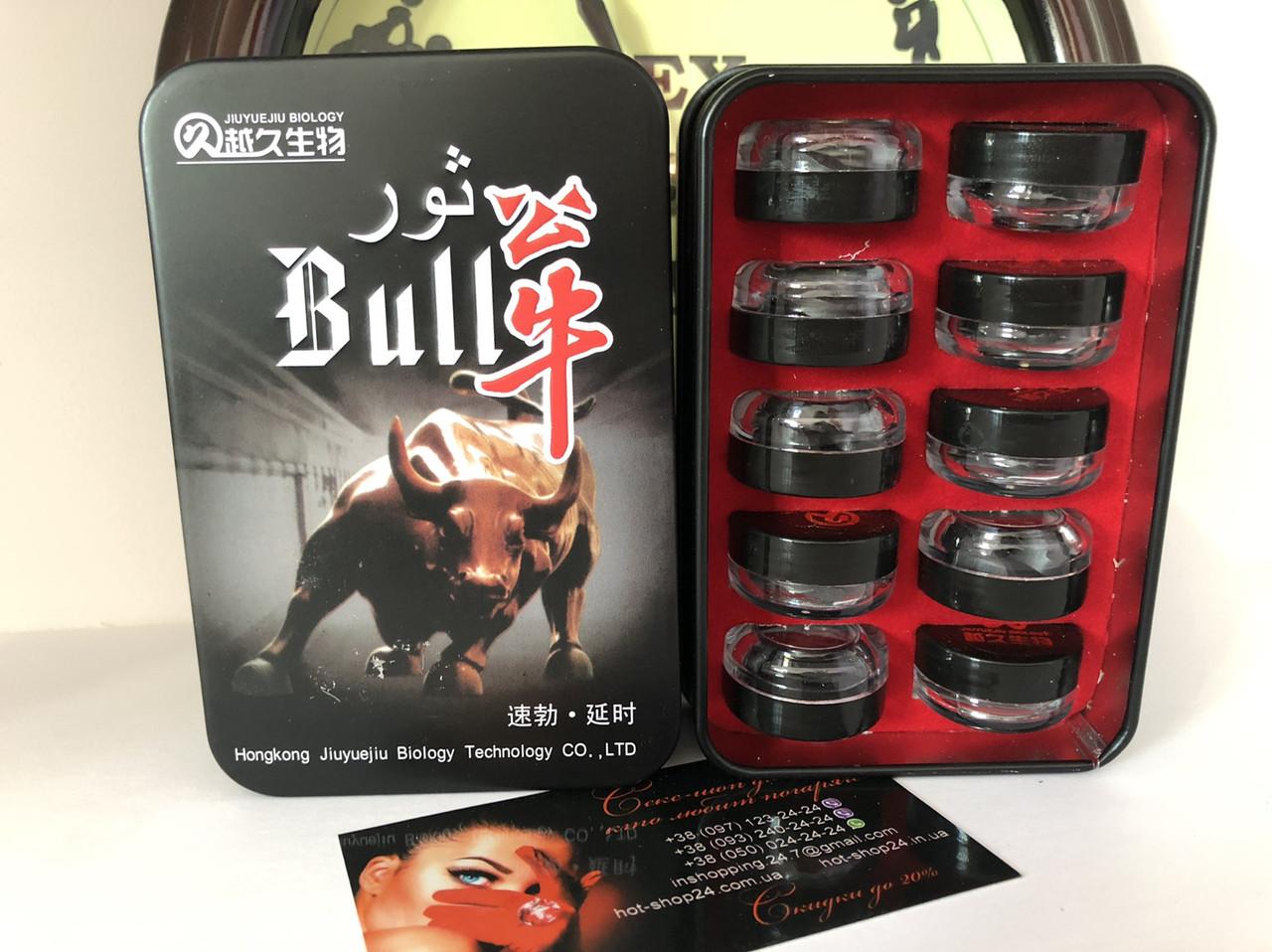 """Таблетки для повышения потенции """"Bull' (Бык) (30 таблеток)."""