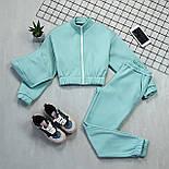 Женский спортивный костюм - тройка с топом, штанами и укороченной мастеркой 66051158Q, фото 2