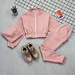 Женский спортивный костюм - тройка с топом, штанами и укороченной мастеркой 66051158Q, фото 4