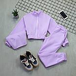 Женский спортивный костюм - тройка с топом, штанами и укороченной мастеркой 66051158Q, фото 3