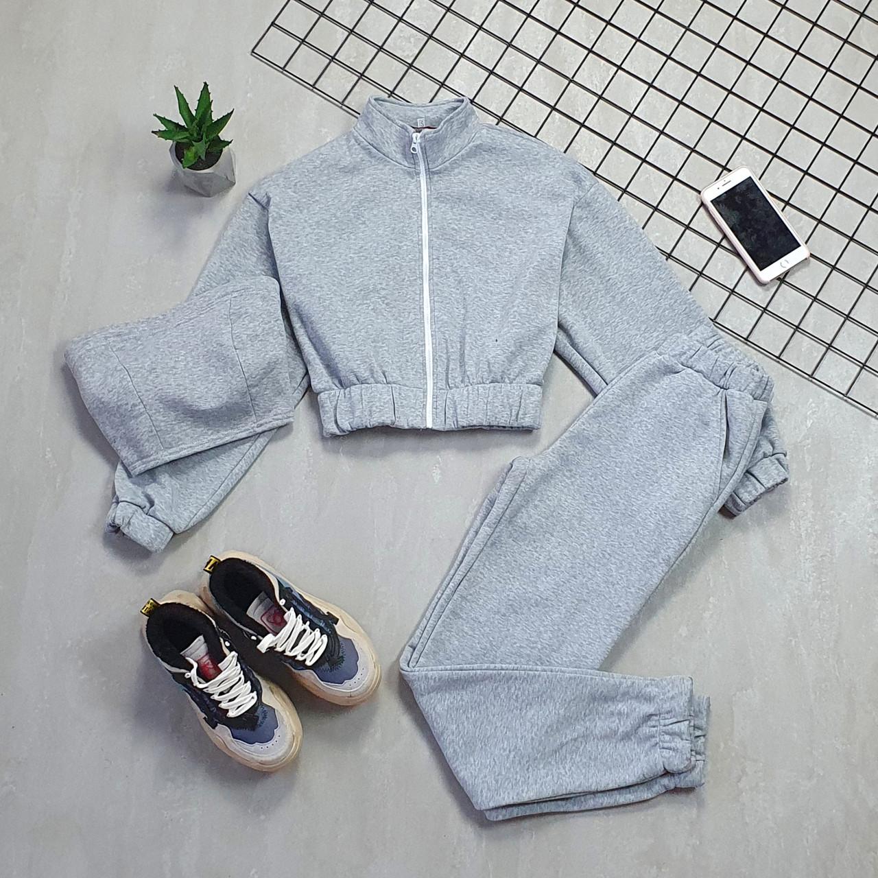 Женский спортивный костюм - тройка с топом, штанами и укороченной мастеркой 66051158Q