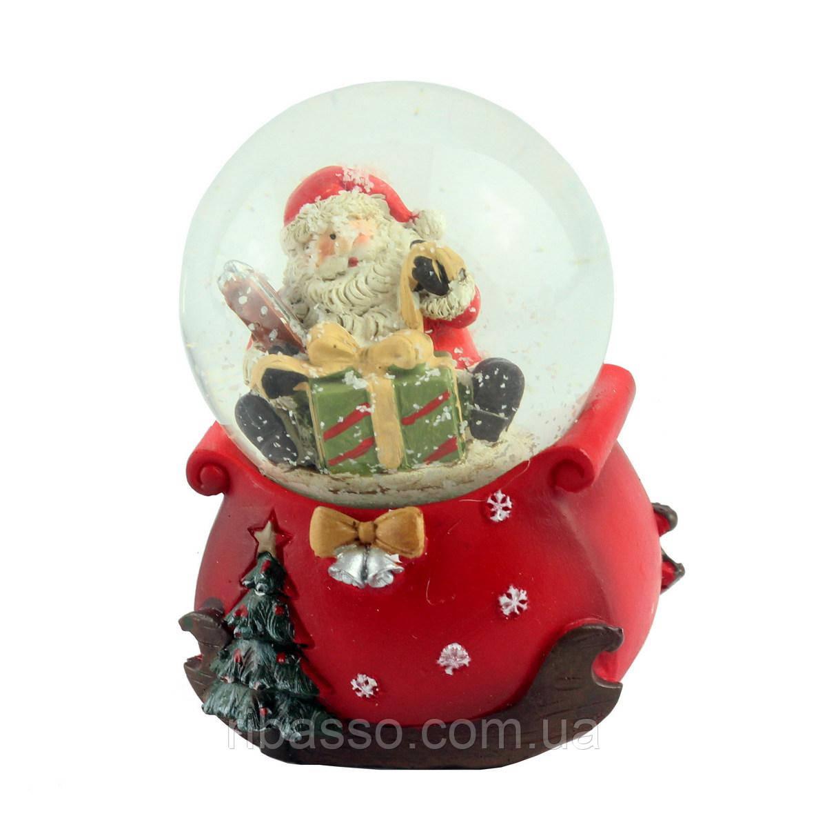"G.Wurm Снежный шар ""Санта"", 9 см"