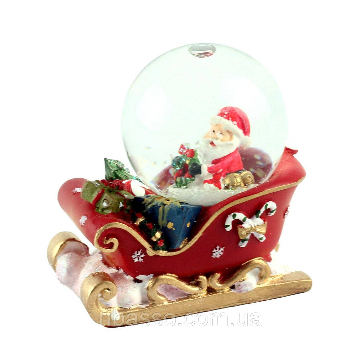 "G.Wurm Снежный шар ""Санта на санках"""