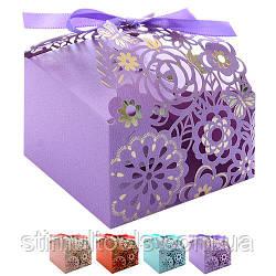 Бонбоньєрка (коробочка для цукерок) Stenson 9*9 см, 50 шт в упаковці