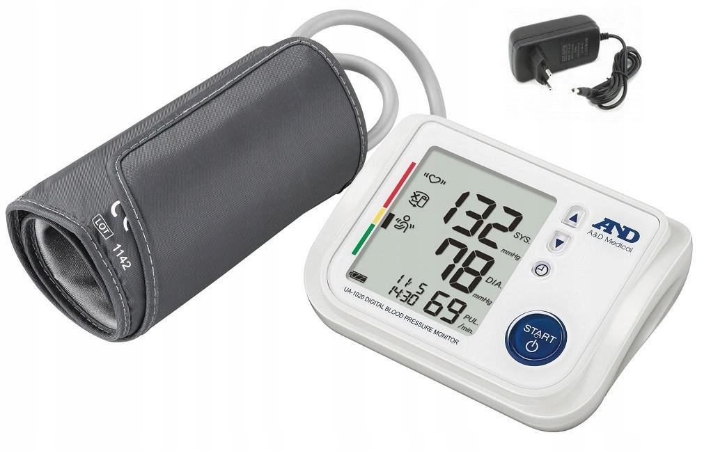 Тонометр автоматический на плечо AND UA 1020 с каркасной манжетой 17-32 см, индикатором аритмии, Япония
